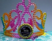 Rainbow Pageant Queen Number 1st 2nd 3rd 4th 5th 6th 7th 8th 9th 10th Birthday Girl Tiara Crown