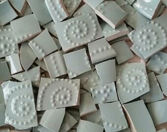 Mosaic Tiles--Frothy Seafoam-Embossed -89Tiles