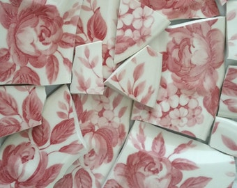 Mosaic Tiles-- Roses --16  pieces