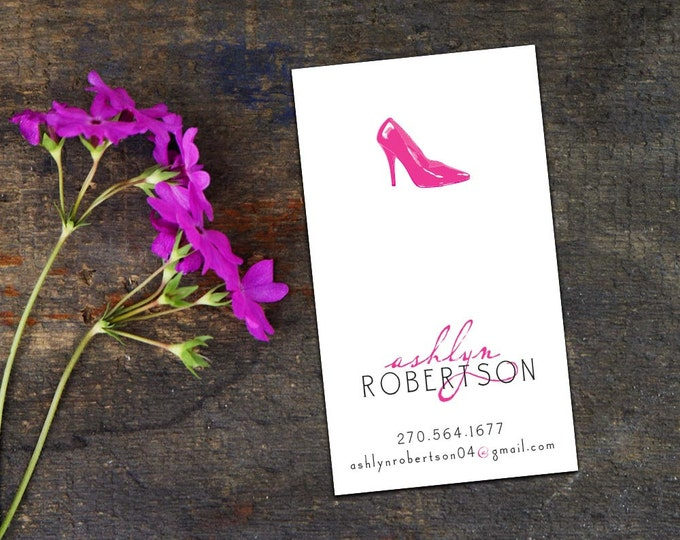 Stylin' Stilettos Personal Calling Cards/Business Cards, Set of 50 or 100 Calling Cards, Custom Business Cards, Personalized Calling Cards