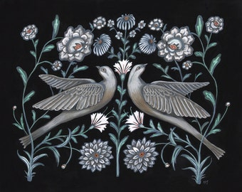 Grey Doves - Original Painting