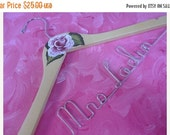 SALE 20% OFF Bridal Hanger Custom Wedding Dress Hanger Personalized Wire Name Hanger Bridal Accessories Photo Props