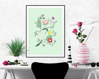 Botanical Flora Decorative Illustration Art Poster 2