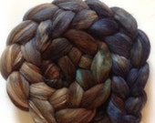 Hand dyed roving for spinning alpaca silk 3.7ozs