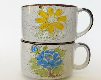 Vintage Stoneware Soup Bowls Set of Two