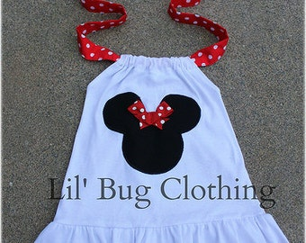 Red White Dot Minnie Mouse Halter Top, Minnie Mouse Girls Shirt, 12 18 24 2t 3t 4t 5t 6 7 8 9 10 girl