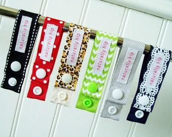 1 Cloth Pad Drying Strap - Choose Colour, Menstrual Pad Drying Strap, Hang Drying Loop, Snap Strap, Pad Chain Drying Strap Grosgrain, Travel