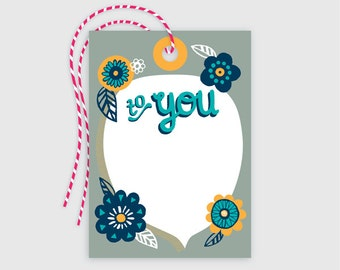Gift Tag 10 pack - Flowers