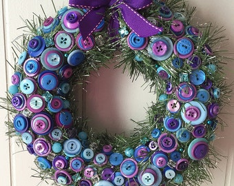 Festive Button Wreath