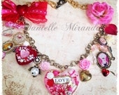 Marie Antoinette I Love You Charm Heart Necklace