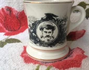 Vintage Mustache Saver Mug Stache Moustache Manly Hipster Lumberjack Coffee Cup