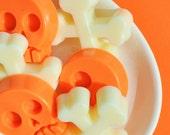 SALE Hallowen Soaps - Set of Six Skulls and Crossbones - Pumpkin Pie and Iced Cookies - Goats Milk Halloween Soaps