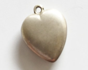 Antique Sterling Heart  Vintage Valentine Sterling Heart