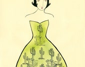 Desert Queen-Desert Art Print, Cactus Print, Southwestern Print, Southwest, Arizona Print, Arizona, Cactus, Desert, Green, Desert Queen,