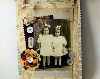 Dream Wallpaper Collage Hanger with vintage laces