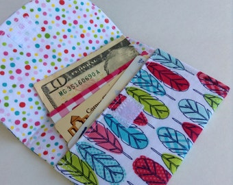 """Feather Wallet/Cardholder 4 1/2"""" x 3 1/2"""" Free Shipping"""