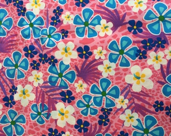 Pink tropical floral fabric - 1 yard x 43 inches - more available