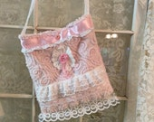 SALE!!!! Pink Chenille Shabby purse/tote bag