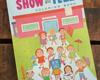 Vintage Lowe Show and Tell Coloring Book - Unused