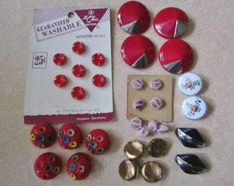 Vintage Glass Buttons DeStash deco glass buttons