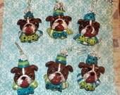 Folk Art Sculpted Baker Clay Ornaments