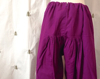 Vintage Indian Harem Lounge Pants, Regal Purple, Boho Gypsy, One Size, Pajama Pants