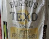 Turkey Growing Mash shipping bag Burrus Texo Texas