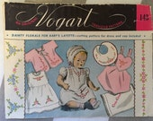 Baby Embroidery 'Dainty Floral' Motif Transfers - Vogart 1940s - Embroidery Supplies / Floral Transfer / Baby Clothes Transfer