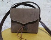 Rustic Brown Leather Shoulder Bag