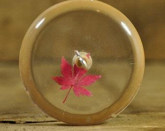 Resin Drop Spindle - Maple Leaf