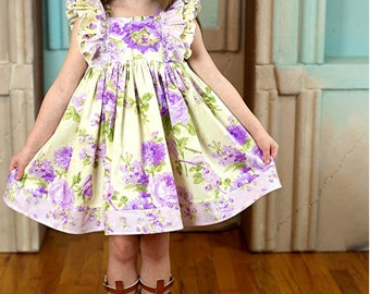 Lavender Rose Ruffle Dress