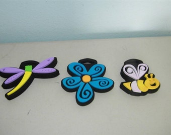 3 Foam Stamps Stamp Butterfly Bumblebee Dragonfly Bee Bumble 11667