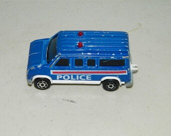 Vintage Majorette Blue Police Van Made in France Fourgon 11991