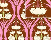 1 YARD - Amy Butler Fabric, Soul Blossoms, Passion Lily, Mulberry 100% Cotton - CLEARANCE