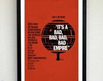 It's a Bad, Bad, Bad, Bad Empire- Star Wars poster