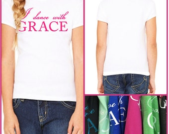GraceWear Toddler & Youth T-Shirt with Customized Text and Colors