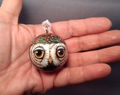 Owl Ornament Christmas Ball Handpainted