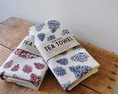 Extra large Tea Towel Pinecones screenprinted fabric flour sack towels nature tree dish towel cotton towel usa made