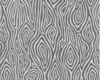Burly Beavers Fabric, Hipster fabric, Woodgrain in Ash, Gray fabric, Robert Kaufman- Choose the cut. Free Shipping Available