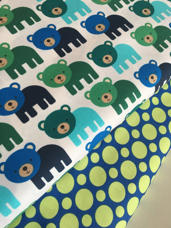Bear fabric boy fabric nursery fabric childrens fabric for Boy nursery fabric