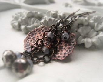 Gemstone Earrings Sapphire Earrings Copper Earrings Item No. 2045 4578