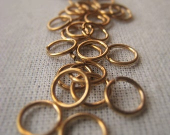 Gold Jewelers Brass Jump Ring 6mm Connector Ring 20 Gauge Open Ring  Item No. 8558 9930