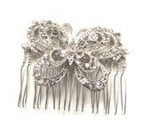 SALE 30% reduced, Bridal hair accessories, wedding hair accessories, bridal comb, bridesmaids comb, hairpiece, Vintage style butterfly comb