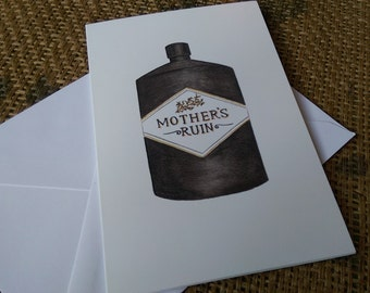 Mother's Ruin (1 x greetings card)