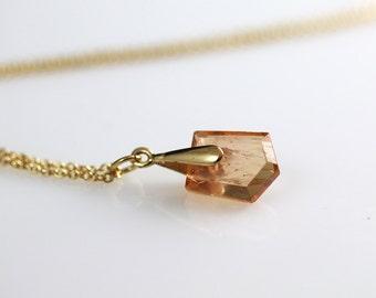 Imperial Topaz Jewelry - 14k Gold - Imperial Topaz - Necklace