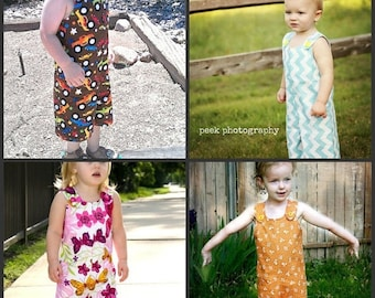 SALE Overalls Pattern for boys with girls version NB - 5t Instant