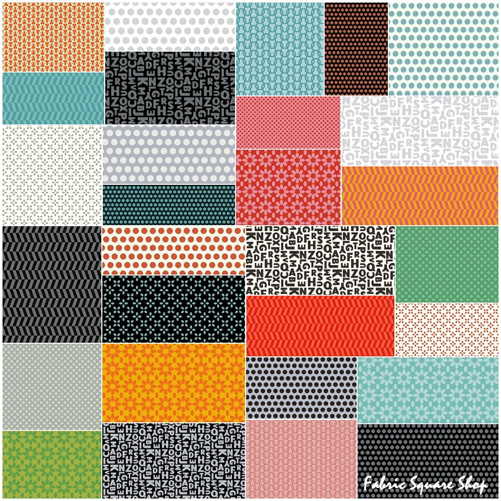 Sale fabric windham uppercase precut 5 charm pack fabric for Quilting fabric sale