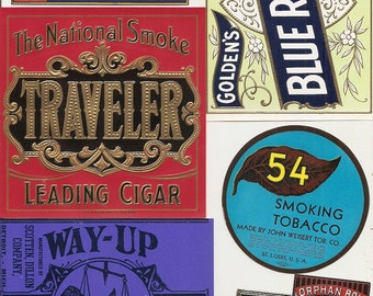 30 different 1930s plus TOBACCO and CIGAR LABELS Due to the continuing Ofac sanctions against Cuba origin of labels from u.s.