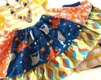 Finding Dory dress Disney Nemo girl boutique handmade clothing