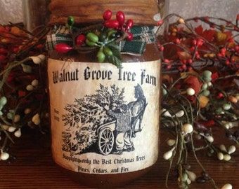 Grungy Jar Candles - Walnut Grove Tree Farm - 1 pint Moeggenborg Sugar Bush